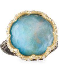 Armenta - Old World Scalloped Triplet & Diamond Ring - Lyst