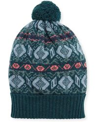 Brora - Fair Isle Cashmere Knit Beanie - Lyst