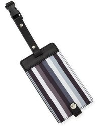 Neiman Marcus - Striped Snap Luggage Tag - Lyst