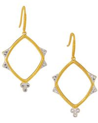 Freida Rothman Visionary Fusion Open-drop Clover Earrings