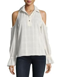 Waverly Grey - Felicia Cold-shoulder Top - Lyst