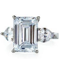Fantasia by Deserio - Emerald-cut Cubic Zirconia Ring Sizes 6-7 - Lyst