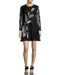 Sachin & Babi - Avant Long-sleeve Floral Lace Cocktail Dress - Lyst