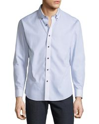 Neiman Marcus - Men's Slim-fit Non-iron Wear-it-out Single Wrap Sport Shirt - Lyst