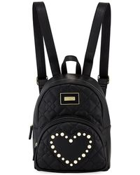 Betsey Johnson - Quilted Pearly Heart Backpack - Lyst