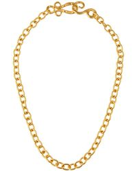 Stephanie Kantis - 24k Yellow Gold Plated Tudor Chain Necklace - Lyst