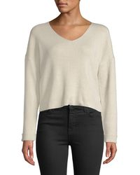 Line & Dot - Vivi V-neck Cropped Sweater - Lyst
