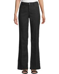 NYDJ - Wylie High-rise Linen Flare Trousers - Lyst