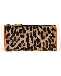 Edie Parker - Soft Lara Leopard-print Calf Hair Clutch Bag - Lyst