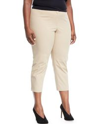 e4757230f1fd2 Lyst - Lafayette 148 New York Bleecker Bi-stretch Cropped Pants in White