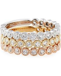 Neiman Marcus - 14k Tricolor Diamond Bands - Lyst