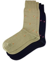 Punto - Two-pair Rooster-print Socks - Lyst