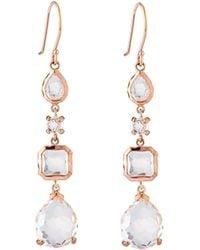 Ippolita - Rosé 4-stone Clear Quartz Drop Earrings - Lyst