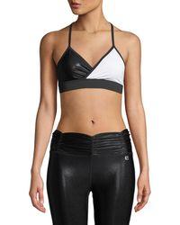 Body Language Sportswear - Crosby Strappy Colorblock Sports Bra Top - Lyst