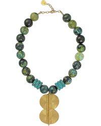 Devon Leigh - Turquoise & Chrysocolla Pendant Necklace - Lyst