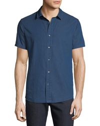 Slate & Stone - Men's Short-sleeve Chambray Sport Shirt - Lyst
