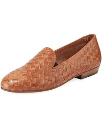Sesto Meucci - Nader Woven Leather Loafers - Lyst