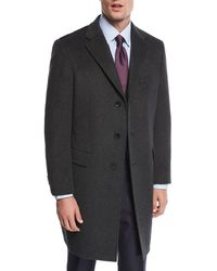 Neiman Marcus - Single-breasted Cashmere Top Coat - Lyst