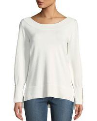 Love Scarlett - Zip-cuff Bishop-sleeve Oversized Sweater - Lyst