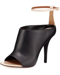 Givenchy - High-vamp Leather Ankle-wrap Sandals - Lyst
