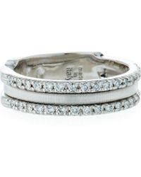 Marco Bicego - Goa 18k White Gold Three-row Double Pave Diamond Ring - Lyst