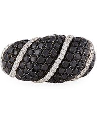 Roberto Coin - 18k White Gold Black & White Diamond Ring - Lyst