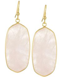 Panacea - Elongated Iridescent Stone Drop Earrings - Lyst