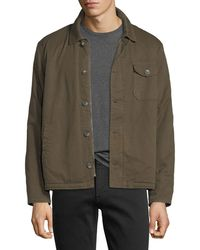 Velvet - Canvas Faux-sherpa-lined Army Jacket - Lyst