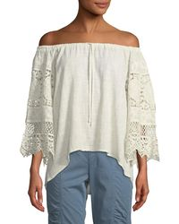 XCVI - Sake Off-the-shoulder Lace Blouse - Lyst