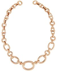 Roberto Coin - 18k Rose Gold Mixed Link Necklace - Lyst