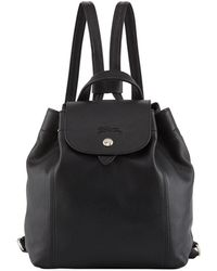 Longchamp - Le Pliage Cuir Flap Backpack - Lyst