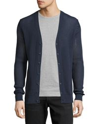 Patrick Assaraf - Crochet-stitch Button-front Sweater Cardigan - Lyst