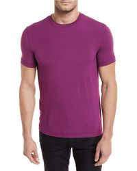 Giorgio Armani - Solid Jersey Crewneck T-shirt - Lyst