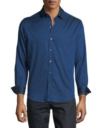 Robert Graham - Men's Christopher Striped & Palm-tree Jacquard Trim-fit Sport Shirt - Lyst