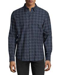 Ben Sherman - Linear Dogtooth Sport Shirt - Lyst