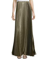 Lafayette 148 New York - Florianna Bijoux Pleated Metallic Maxi Skirt - Lyst