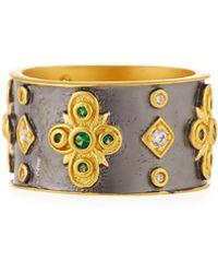 Freida Rothman - Cubic Zirconia Floral Cigar Band Ring Size 7 - Lyst