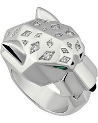 Cartier - Estate 18k Diamond Panthere Ring - Lyst