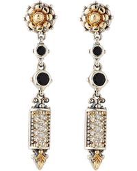 Konstantino - Asteri Etched Onyx & Diamond Dangle Earrings - Lyst