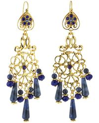Jose & Maria Barrera Bright Filigree Chandelier Earrings fF8AtgWAh