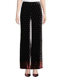 Trina Turk - Penelope Wide-leg Printed Velvet Pants - Lyst
