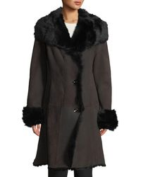 Gorski - Lamb Shearling Stroller Jacket W/ Toscana Trim - Lyst