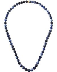 Nest - Long Sodalite Necklace - Lyst