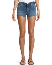Joe's Jeans - Mid-rise Fray-hem Denim Shorts - Lyst