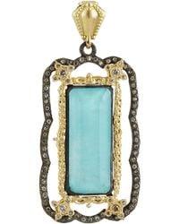 Armenta - Old World Green Turquoise & Diamond Enhancer - Lyst