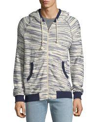 Sol Angeles - Space-dye Tweed Zip-front Hoodie - Lyst