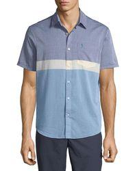 Original Penguin - Men's Short-sleeve Button-down Colorblock Sport Shirt - Lyst