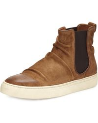 John Varvatos | Reed Sharpei Leather Chelsea High-top Sneaker | Lyst