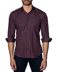 Jared Lang - Semi-fitted Dotted Sport Shirt - Lyst