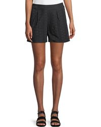 BCBGeneration - Eyelet-lace Pull-on Shorts - Lyst